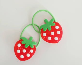 Strawberry Hair Elastics, Pig tails