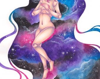 Galaxy Doll Print A4