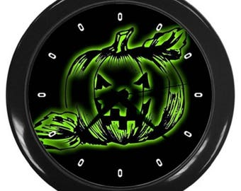 Halloween wall clock decor scary pumpkin Halloween decor pumpkin clock
