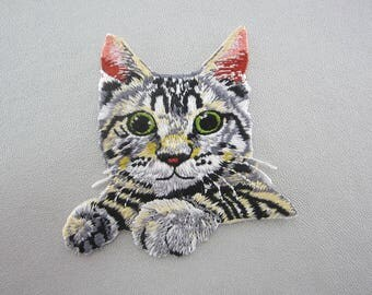 Iron On Patches, Striped Cat Appliques