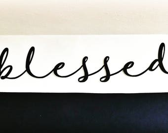 Blessed | Metal Script | Wall Decor | Kitchen Decor |