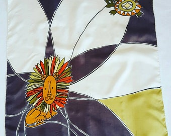 Shantung silk scarf by Bell.