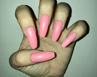 Bubblegum Pink Acrylic Nails