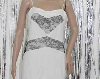 Stunning 90's New With Tags! Black White La Perla Dress (14)