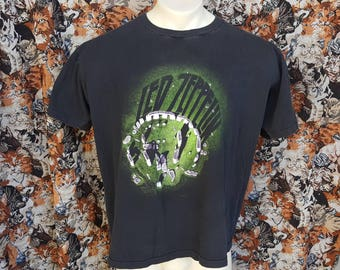 Rare Vintage 80's Led Zeppelin Stonehenge Band Shirt Size XL Double Sided Print