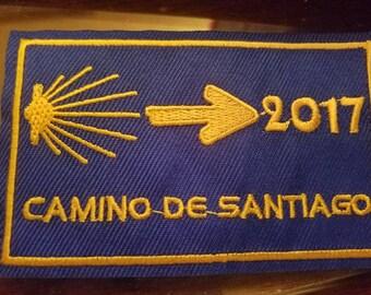 Camino de Santiago 2017 / St James / Santiago / Pilgrim / Backpack patch