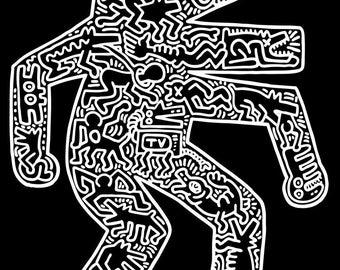 Keith Haring Dog, 1985