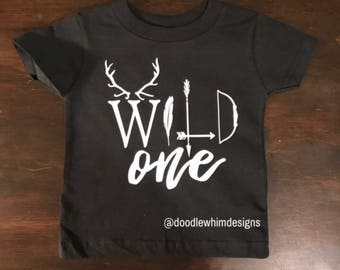 Wild One Tee - Birthday Tee - Wild Child - First Birthday