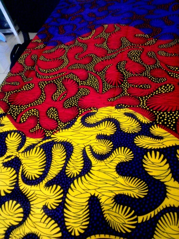 Fabric by the yard african print ankara fabric wax for Children s clothing fabric by the yard