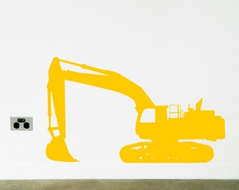 DIGGER EXCAVATOR Wall Sticker, Removable Decal, Made In Australia