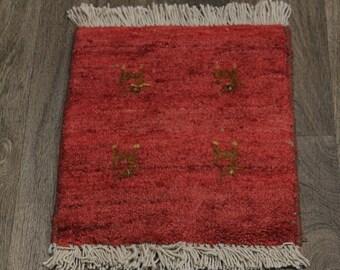 Excellent Handmade Plush Tiny Gabbeh Modern Persian Rug Oriental Carpet 1ʹ2X1ʹ8