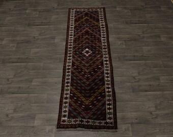 Genuine Tribal Runner Handmade Ghoochan Persian Area Rug Oriental Carpet 3X9