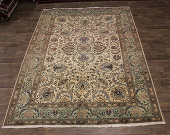 Captivating Unique Floral Design Tabriz Persian Rug Oriental Area Carpet 8X11