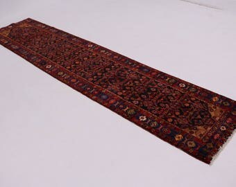 Amazing Palace Size Runner Tribal Nahavand Persian Area Rug Oriental Carpet 4X16