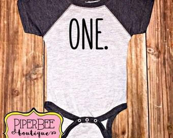 One Bodysuit, First Birthday Bodysuit,  First Birthday Outfit, Birthday, 1 year old, 1st Birthday