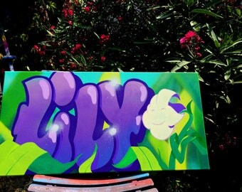 custom graffiti name canvas