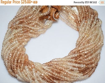 50% OFF Good Quality Shaded Imperial Topaz Rondelle Beads 13 Inch Strand ,Shaded Imperial Topaz Faceted Rondelle Beads , 3-3.5mm - MC020