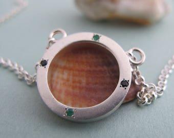 Minimalist Silver Necklace, Circle Pendant, Geometric Necklace, Minimal Jewelry, Open Circle Necklace, Silver Geometric Necklace, Geometric
