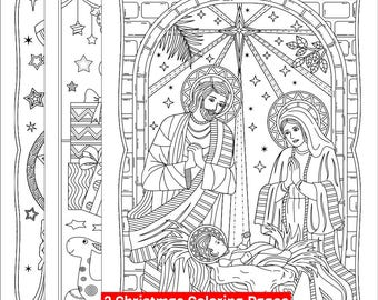 3 Printable Christmas Coloring Pages Gifts And Toys Lantern Or Parol