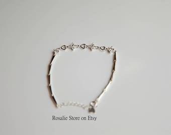 Sterling Silver Minimalist Bracelet, birthday gift, Christmas gift, dainty bracelet, holiday present for her, secret Santa gift for her
