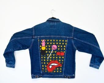 Oversized Vintage Upcylced Denim Jacket