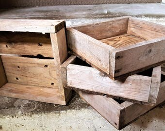 Wooden Boxes Wooden Bulb Boxes Gardeners Bulb Boxes Vintage Wooden Boxes Dahlia Narcissus Bulb Boxes Winter Storage for Bulbs Country Decor
