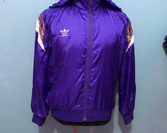 Vtg 80s adidas sweater with hoodie
