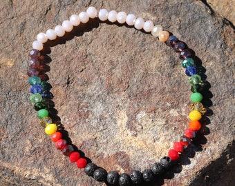 Crystal Chakra Diffuset Bracelet