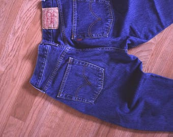 LIKE NEW Levi's 501 High Waist Cropped Denim Jeans