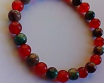 Gemstone Bracelet,men's bracelets,women's bracelets, stretch, jade, minimal, afrocentric bracelet, stackable,unique,inexpensive,gift