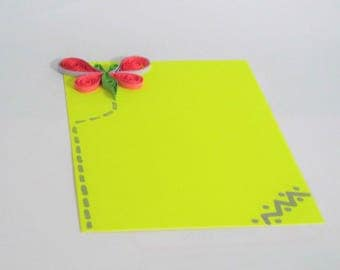 Summer Butterfly Yellow Neon Blank Cards,Spring Theme One Sided Cards,ThankYou Nature Theme One Sided Cards,Postal Spring One sided Cards