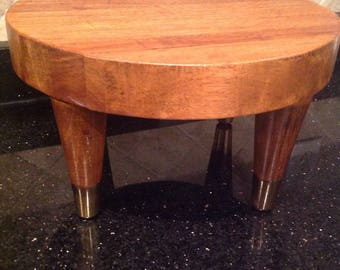 Mid Century Wood Foot Stool /Plant Stand