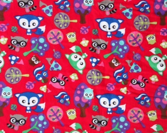Blue Fox Reny and his friends - red background