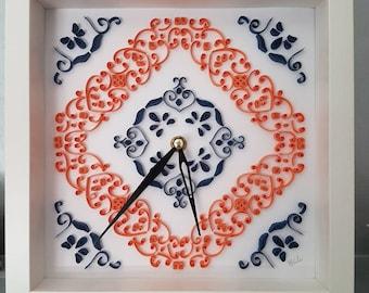 Quilling art clock