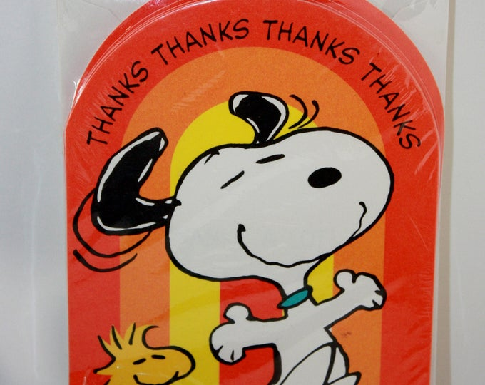 PEANUTS Snoopy Woodstock Thanks Thank You Cards United Features Syndicate