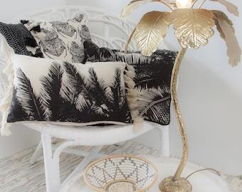 Palm Tree Leaf Oblong Tassel Pillow Cushion