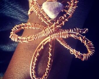 Heart-Shaped Ankh Bracelet