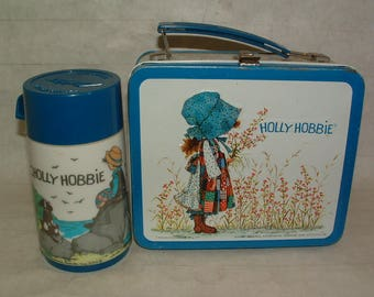 Vintage Holly Hobbie Lunchbox And Thermos  In Good Shape 1972 ****** 1970's********