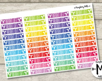 Weight Lifting Stickers for Planners