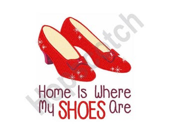 Ruby Slippers - Machine Embroidery Design