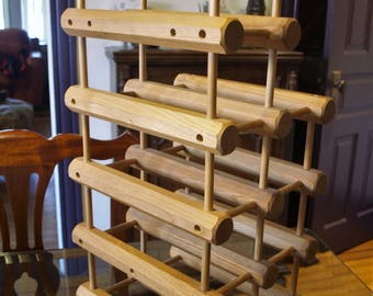 Wood Trellis Wine Rack – Expandable System – Holds 10 Bottles – Table Top