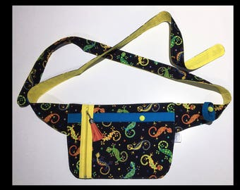Hip Carry bag, Bum bag, Festival Belt, Utility Belt, Hip bag,Nurse bag, nurses pouch, gecko, lizard