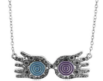Luna lovegood Harry Potter glasses necklace.