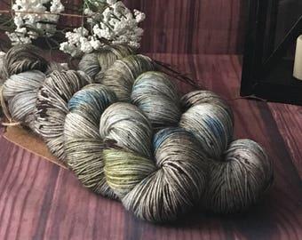 Hand Dyed Yarn, Sock Yarn, Indie Dyed Yarn, Merino Wool Yarn - Outlander Inspired Standing Stones on Simple Sock
