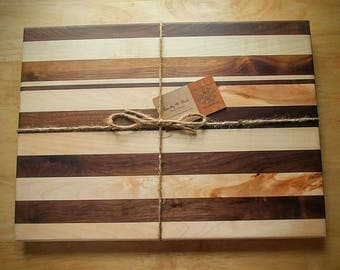 14x12 Wood Cutting Board, Wood Cutting Boards, Cutting Boards, Walnut and Maple Wood