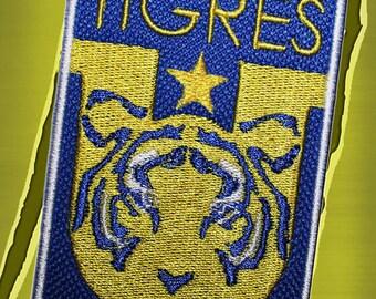 tigres de uanl embroidered patch campeon mexico parche de tigres uanl