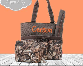 Camouflage Diaper Bag Set - Camo Diaper Bag - Monogram Diaper Bag - Personalized Diaper Bag - Diaper Bag Boys - Baby Boy Diaper Bag