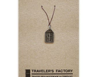 Traveler's Factory TF Charm Tag pattern 07100015 Midori Designphil Material Tin Free Shipping