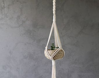 Braid Macramé Plant Hanger | Plant Hanger | Plant Holder | Pot Hanger | Plant Hanging | Macramé Plant Holder | Modern Macramé | Boho Décor