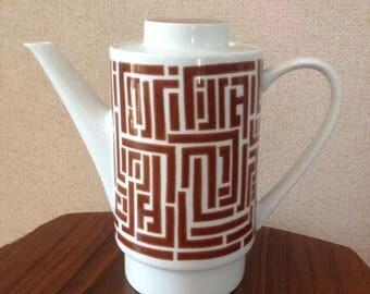 Théière géométrique 70s / Retro teapot